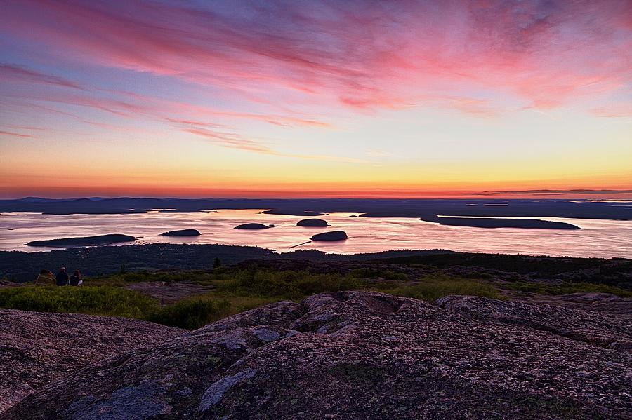 Cadillac Mountain Photograph - The Cadillac Mountain Sunrise Club by Jeff Sinon