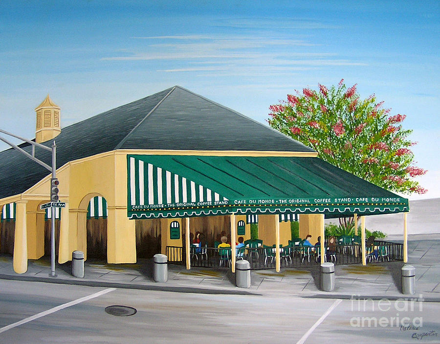Cafe Du Monde Painting - The Cafe by Valerie Carpenter