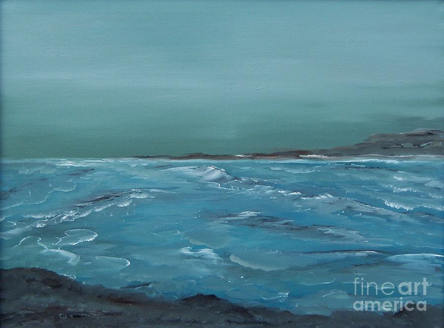 Waves Painting - The Calm Before by Geralyn Willingham