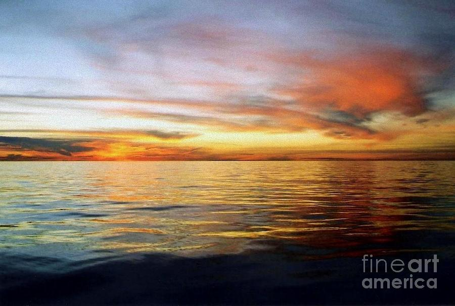 The Calm Before Hurricane Katrina In The Gulf Of Mexico Off The Coast Of Louisiana Photograph  - The Calm Before Hurricane Katrina In The Gulf Of Mexico Off The Coast Of Louisiana Fine Art Print