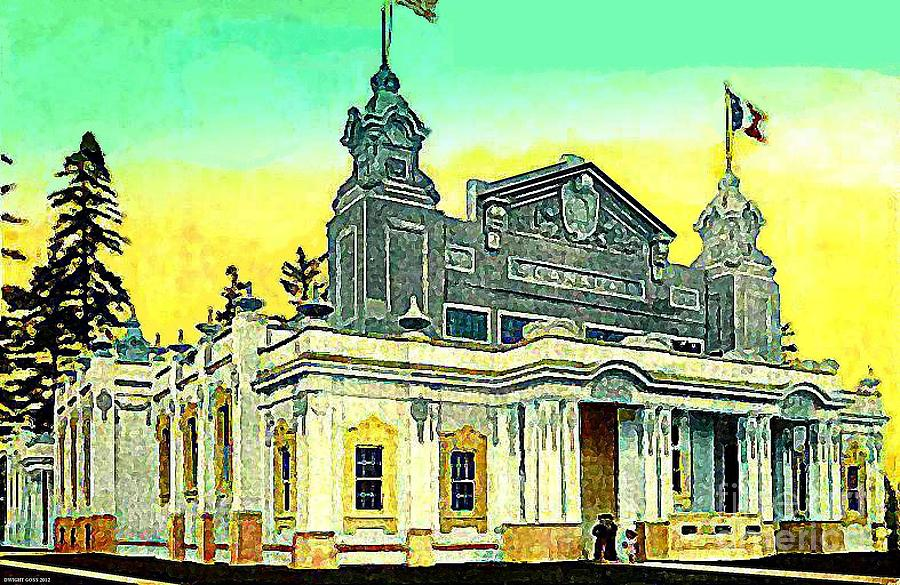 The Canada Bldg At The Alaska Yukon Pacific Expo In Seattle Wa In 1907 Painting  - The Canada Bldg At The Alaska Yukon Pacific Expo In Seattle Wa In 1907 Fine Art Print