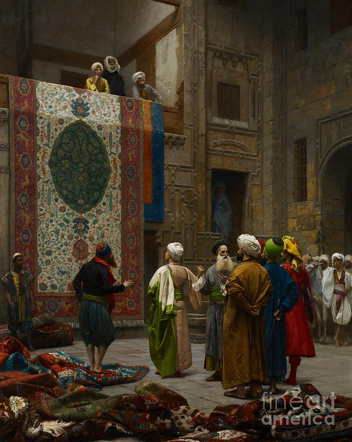 The Carpet Merchant Painting  - The Carpet Merchant Fine Art Print