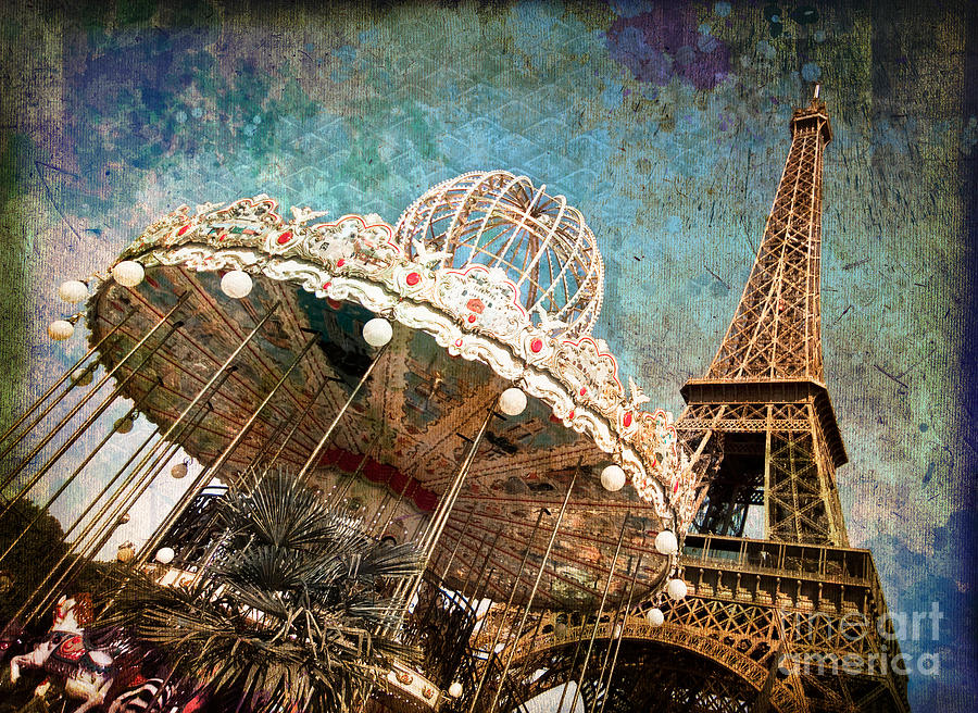 The Carrousel Of The Eiffel Tower Photograph  - The Carrousel Of The Eiffel Tower Fine Art Print