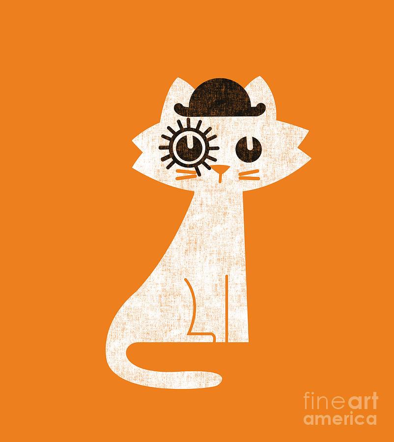The Cat In Clockwork Orange Costume Digital Art