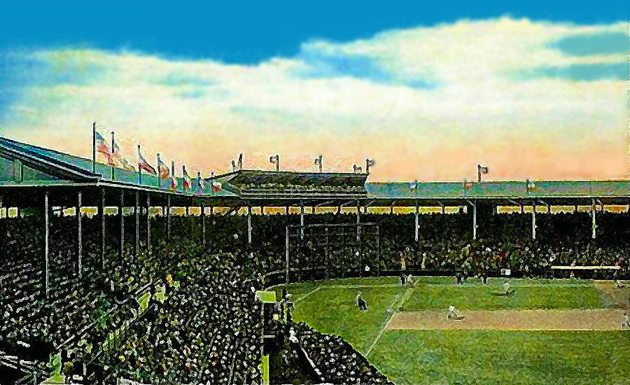 The Chicago Cubs Wrigley Field Around 1920 Painting