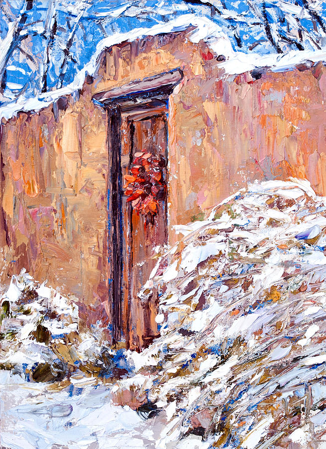 Santa Fe Painting - The Chili Wreath by Steven Boone