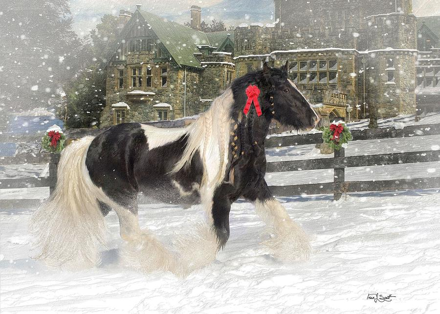 The Christmas Pony Mixed Media