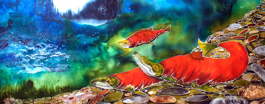 Silk Painting Painting - The Circle Of Life by Judy Swircenski