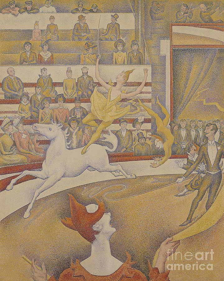 Crowd Painting - The Circus by Georges Pierre Seurat