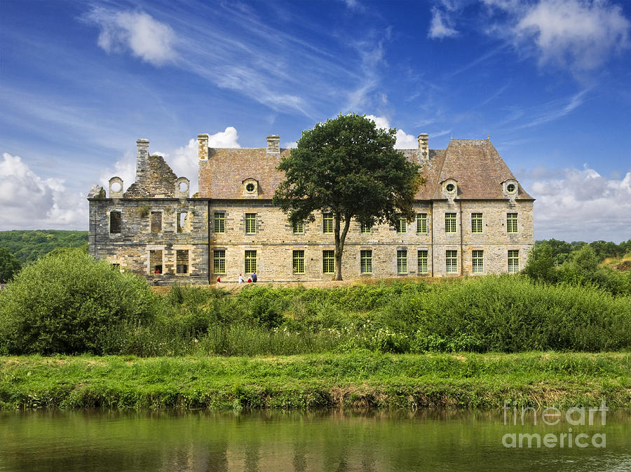 The Cistercian Abbey De Bon Repos Cotes Darmor Brittany France Photograph