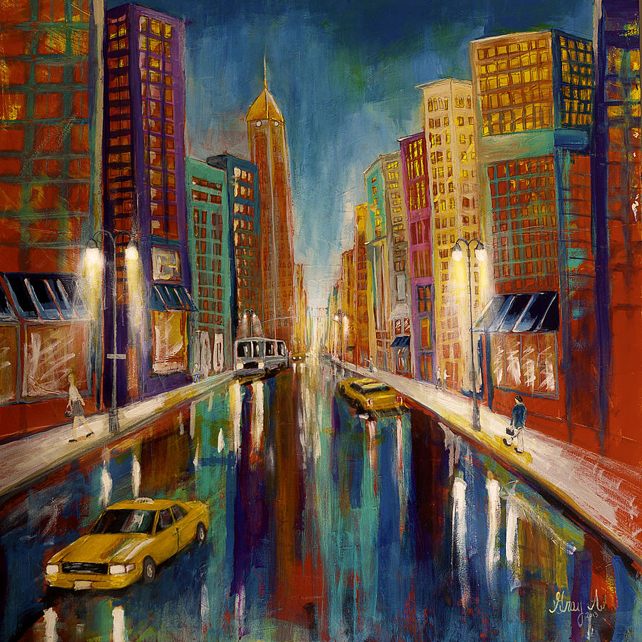 the city painting by gray artus