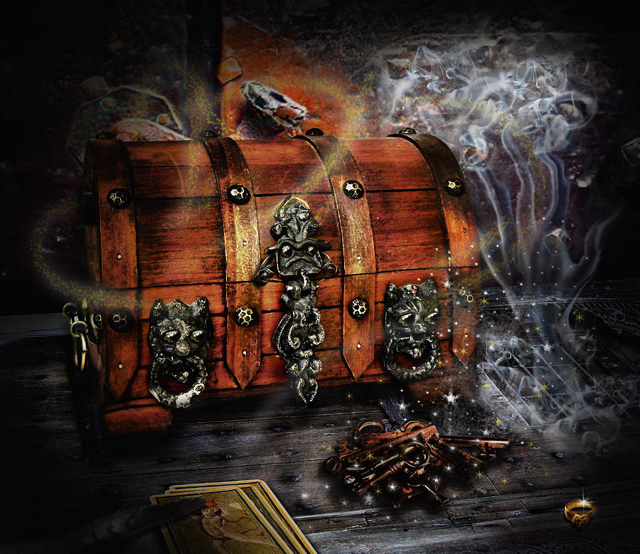 The Coffer Of Spells Digital Art