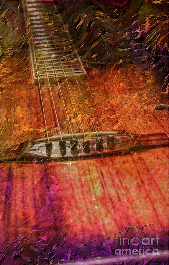 The Color Of Music Digital Guitar Art By Steven Langston Photograph  - The Color Of Music Digital Guitar Art By Steven Langston Fine Art Print