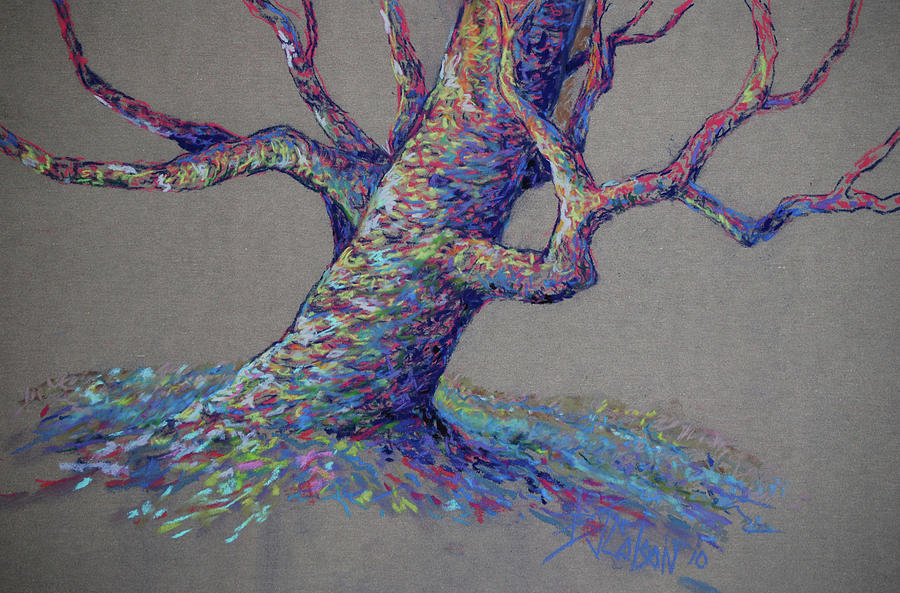 Colorful Tree Painting - The Colors Of Life by Billie Colson