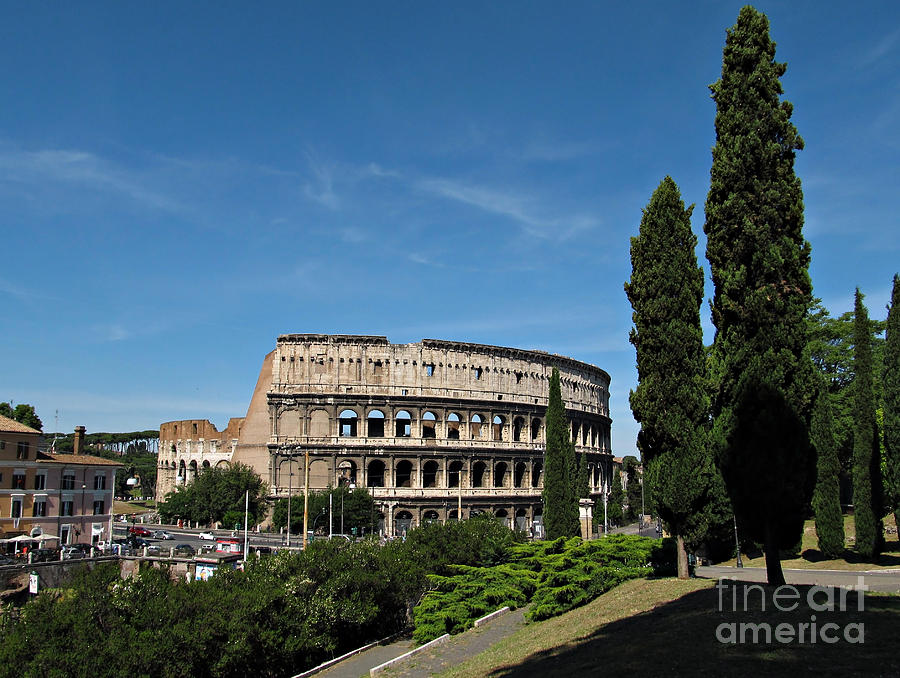 The Colosseum In Rome Photograph  - The Colosseum In Rome Fine Art Print