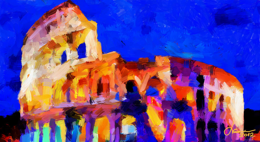 The Colosseum Tnm Digital Art  - The Colosseum Tnm Fine Art Print