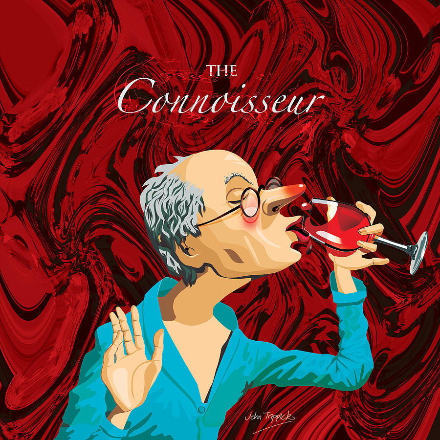 The Connoisseur Digital Art  - The Connoisseur Fine Art Print