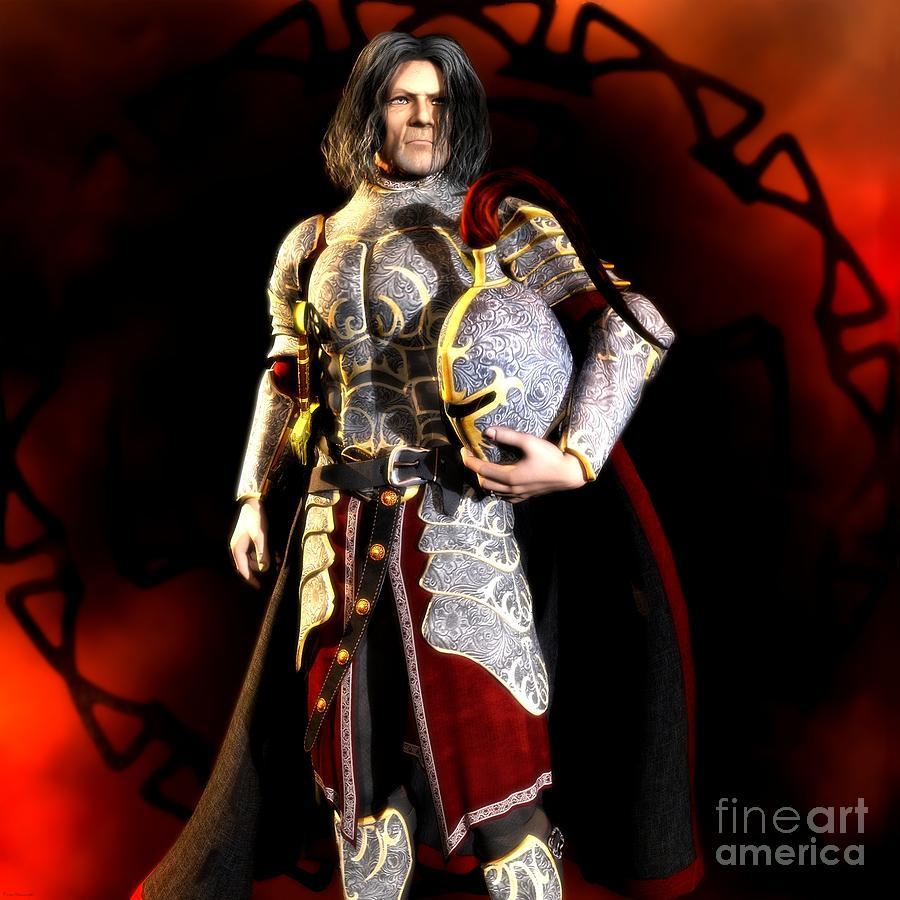 Knight Digital Art - The Conqueror by Gabriel Forgottenangel