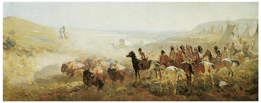 The Conquest Of The Prairie Painting  - The Conquest Of The Prairie Fine Art Print