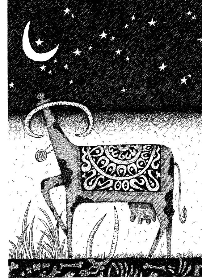 The Constellation Of A Cow Drawing