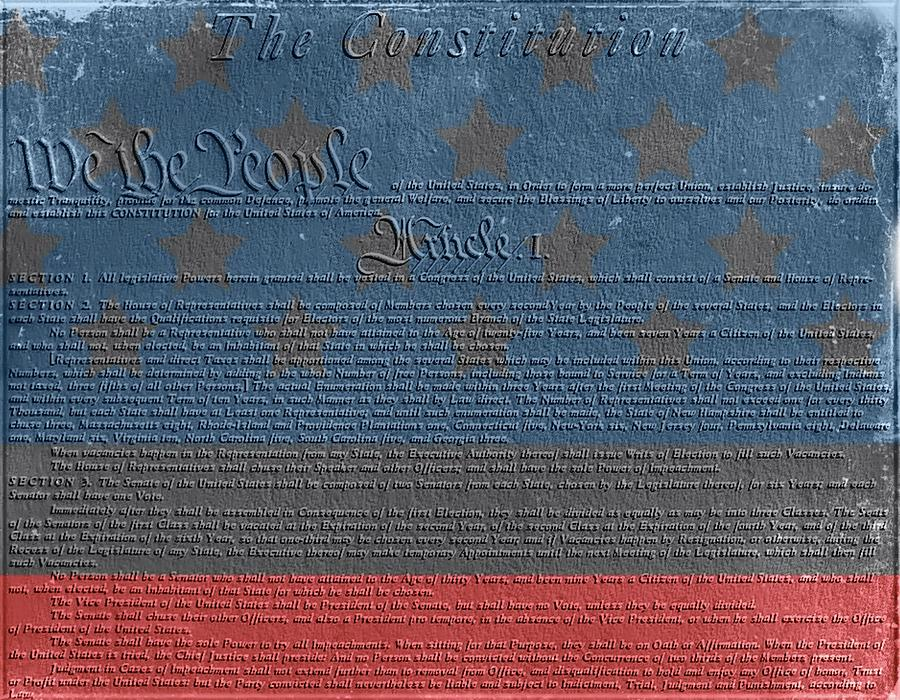 The Constitution Of The United States Of America Mixed Media