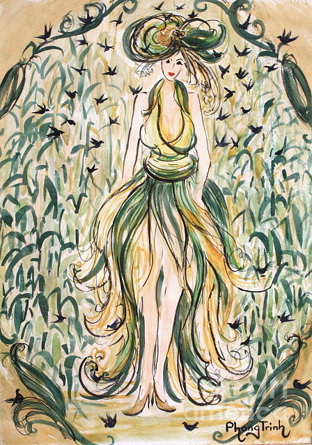 The Corn Field Princess Painting