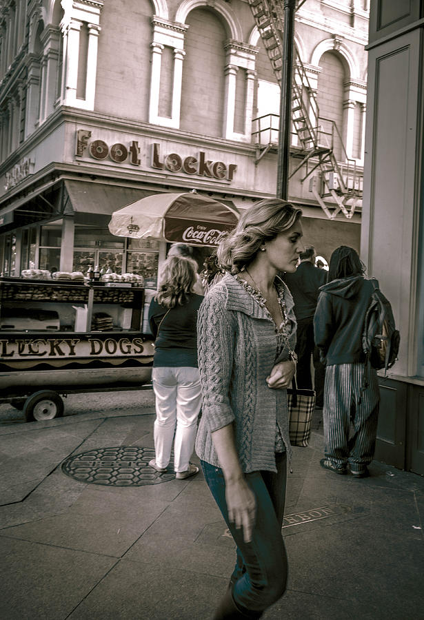 New Orleans Photograph - The Corner Of Bourbon And Canal Streets In New Orleans by Louis Maistros