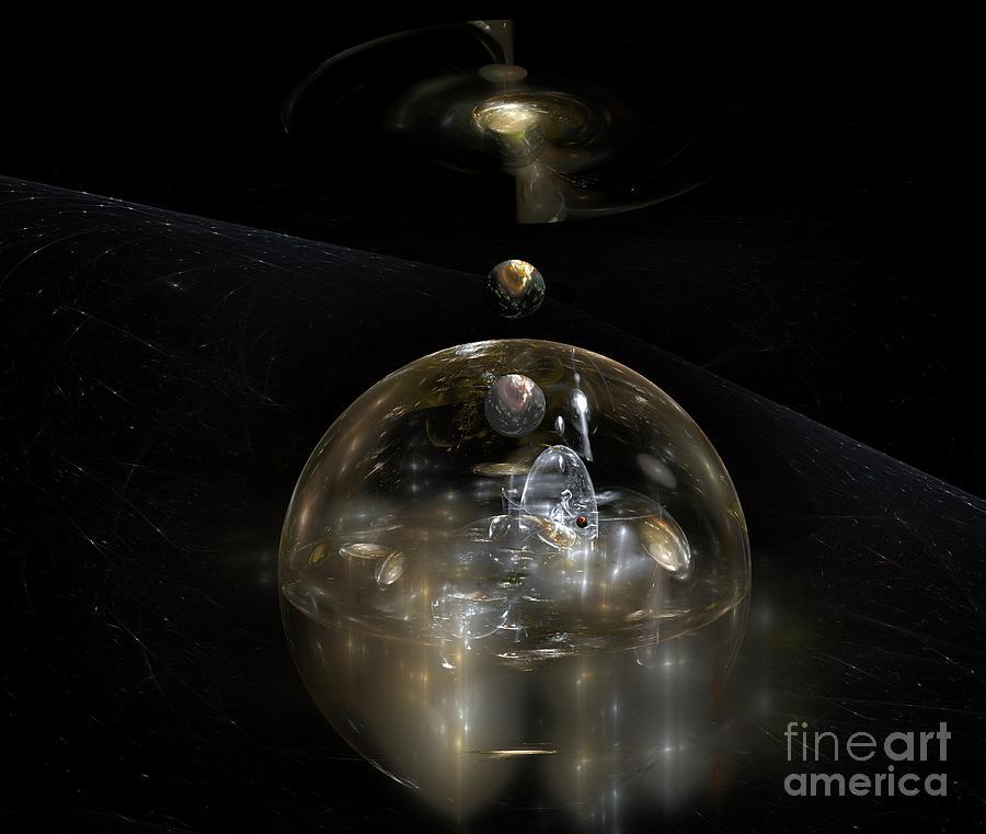 The Cosmic Builder Digital Art