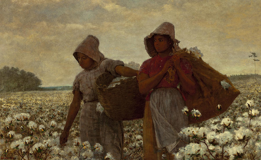 The Cotton Pickers Digital Art - The Cotton Pickers by Winslow Homer
