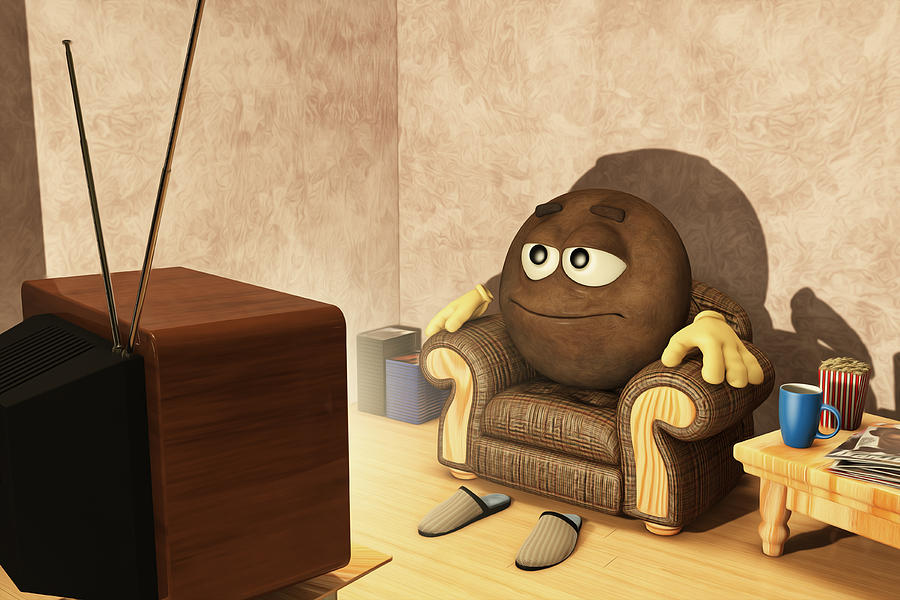 The Couch Potato Digital Art  - The Couch Potato Fine Art Print