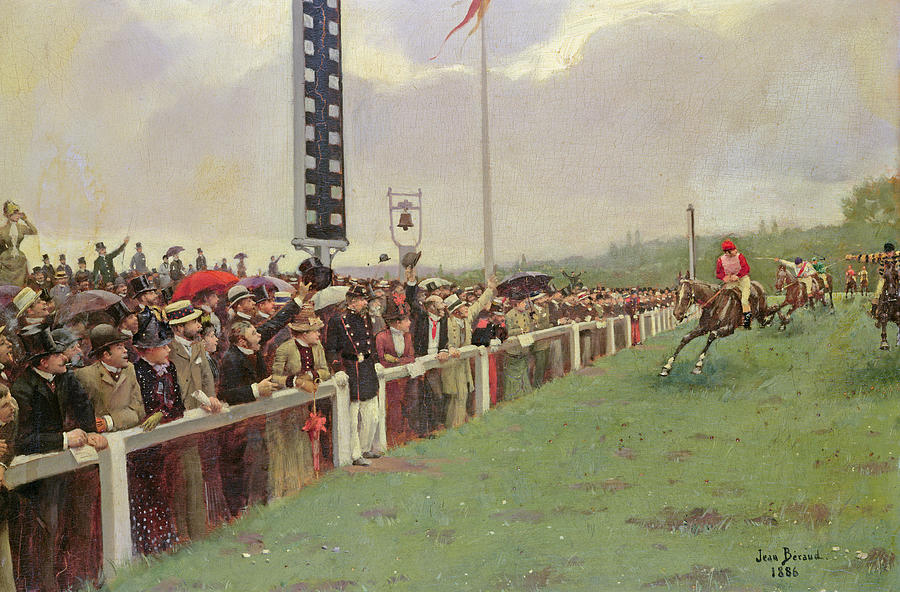 The Course At Longchamps Painting