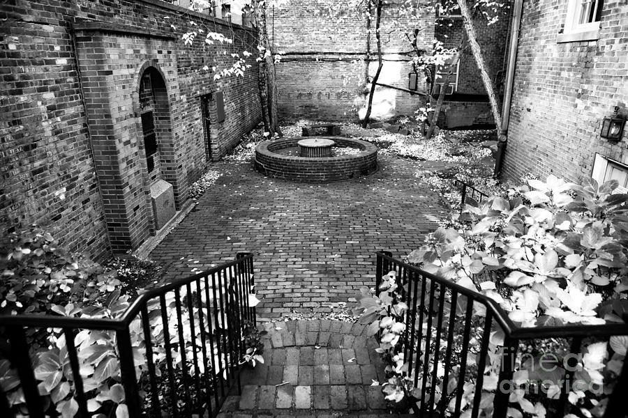 The Courtyard At The Old North Church Photograph - The Courtyard At The Old North Church by John Rizzuto