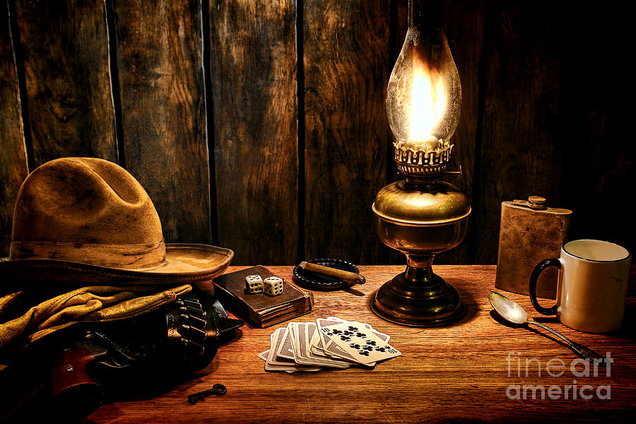 Cowboy Photograph - The Cowboy Nightstand by Olivier Le Queinec