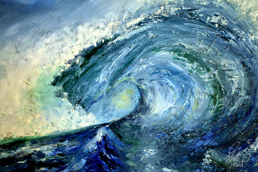 The Crashing Wave Painting By Carol Sheli Cantrell
