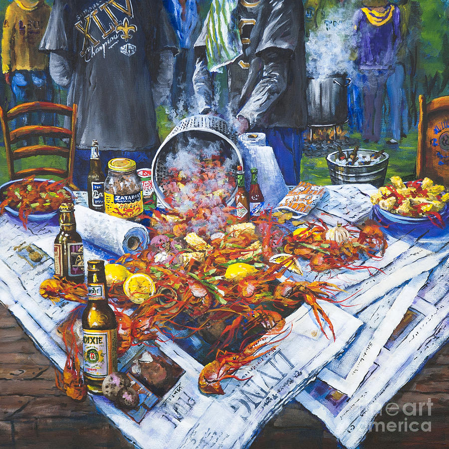 The Crawfish Boil Painting