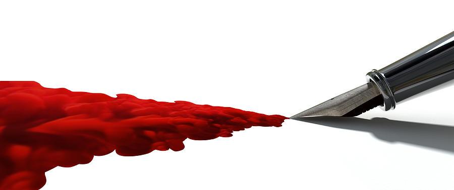 Pen Digital Art - The Creative Flow by Allan Swart