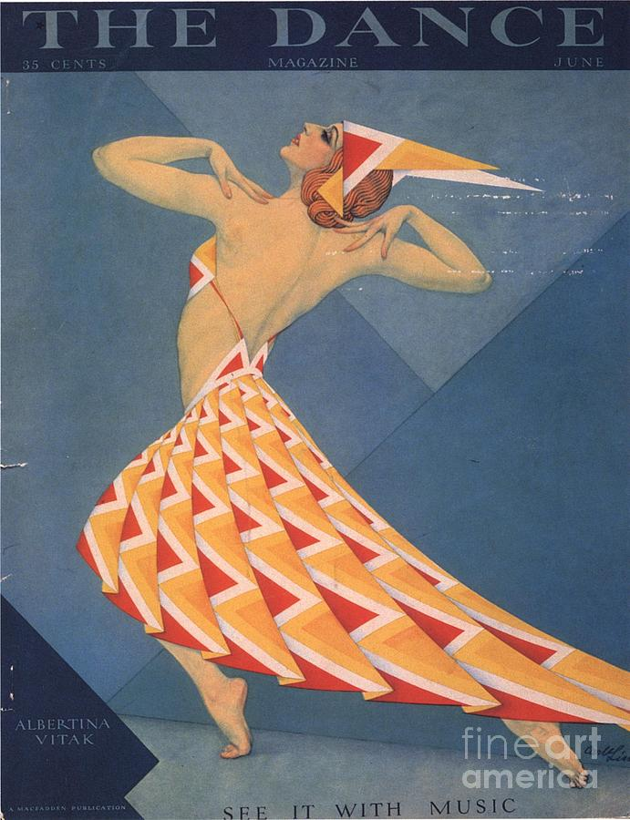 The Dance 1920s Usa Art Deco Magazines Drawing