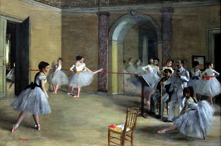 The Dance Foyer At The Opera On The Rue Le Peletier Painting  - The Dance Foyer At The Opera On The Rue Le Peletier Fine Art Print