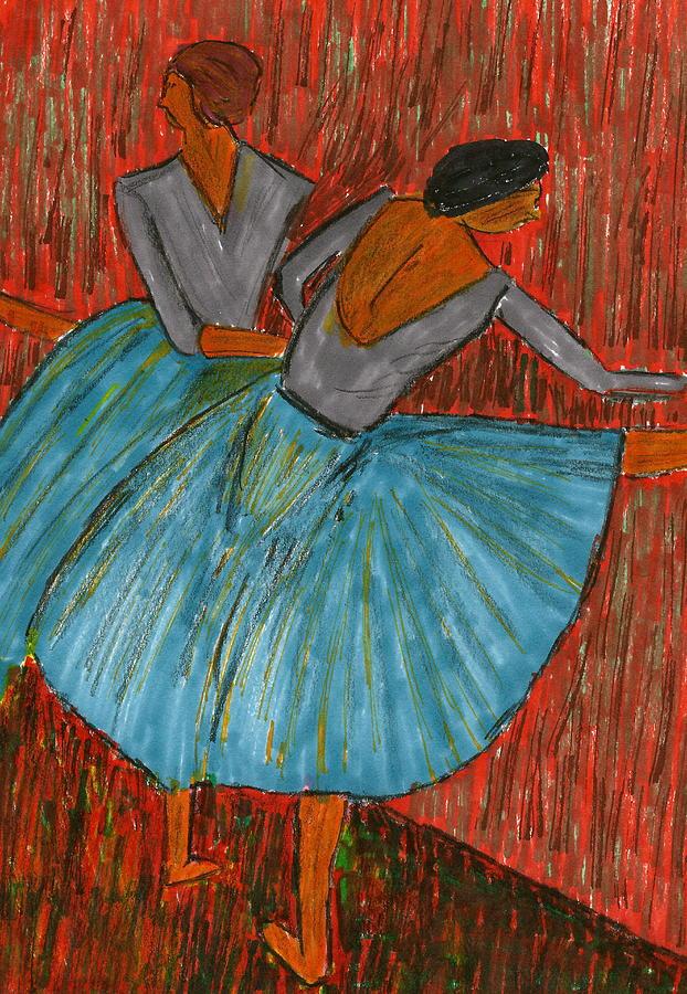 The Dancers Mixed Media