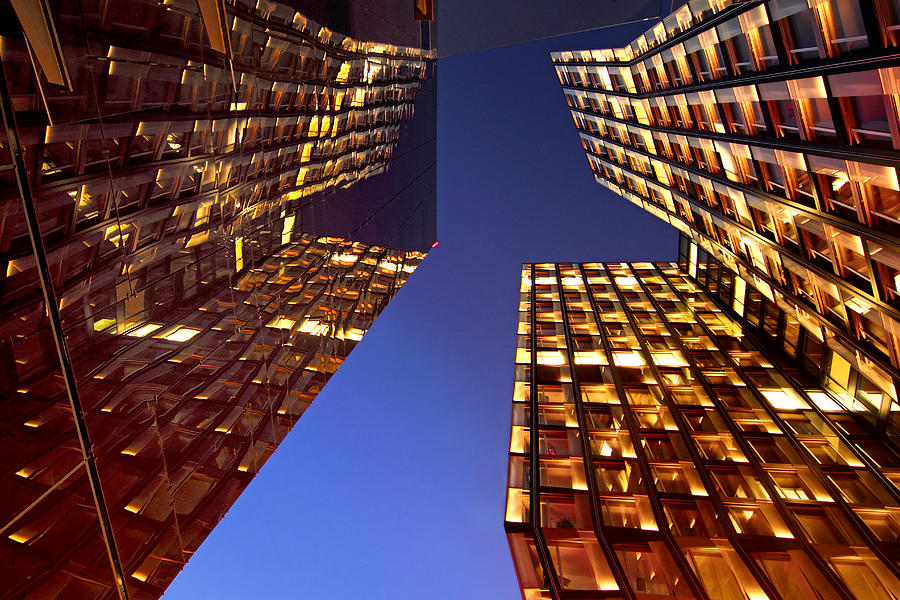 Architectur Photograph - The Dancing Towers by Marc Huebner