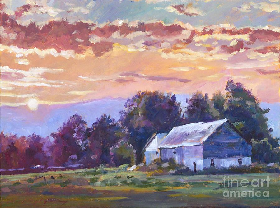 The Day Ends   Painting  - The Day Ends   Fine Art Print