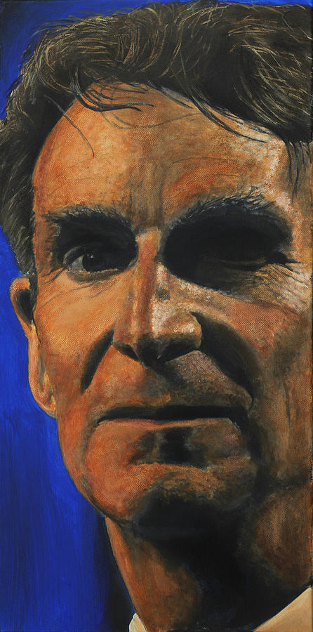 The Debater- Bill Nye  Painting