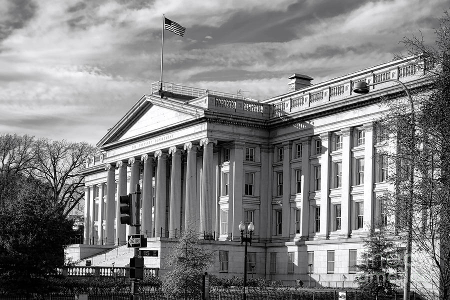 Washington Photograph - The Department Of Treasury by Olivier Le Queinec