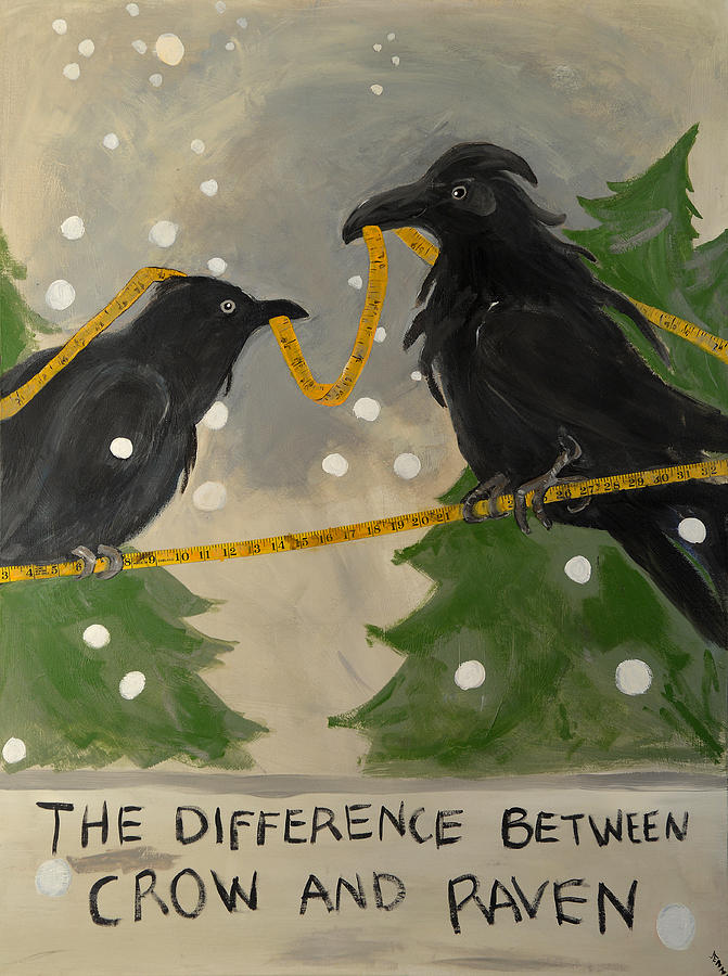 The Difference Between Crow And Raven Painting by Jennie ...