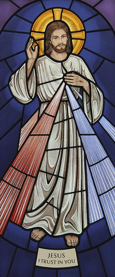 The Divine Mercy Glass Art