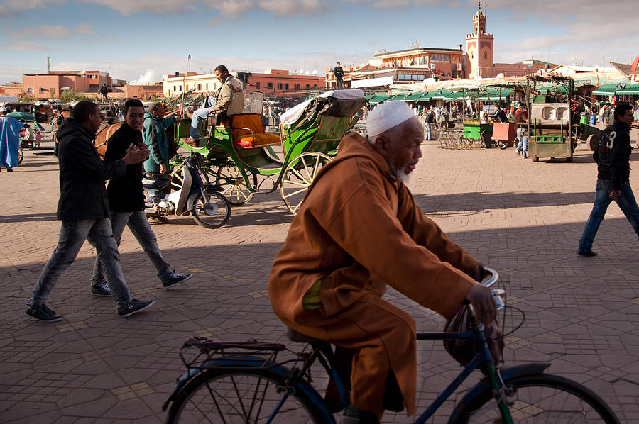 The Djemaa El Fna Photograph  - The Djemaa El Fna Fine Art Print