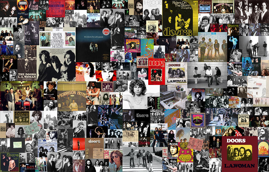 The Doors Collage Digital Art
