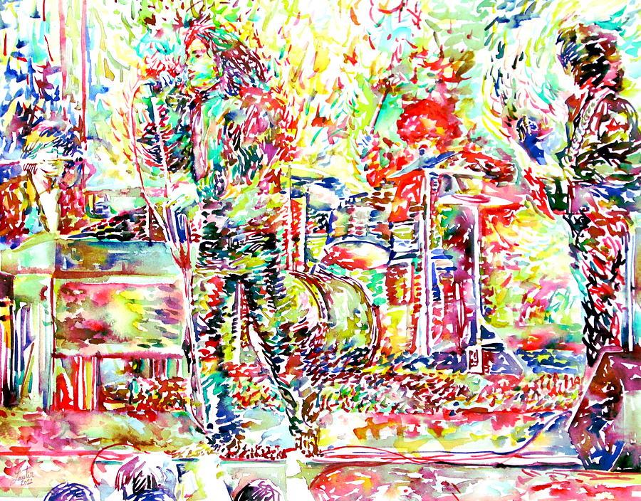 The Doors Live Concert Portrait Painting