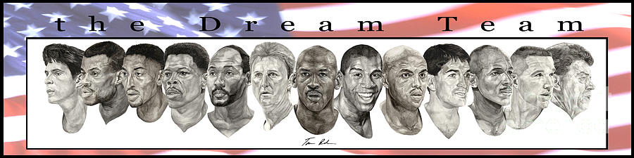 the Dream Team Painting  - the Dream Team Fine Art Print
