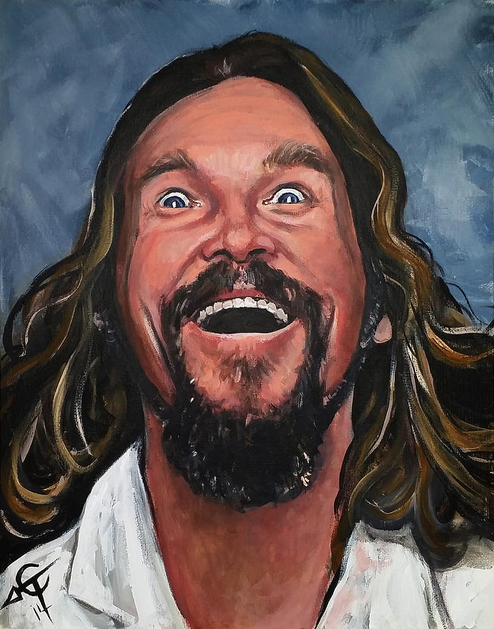 The Dude Painting - The Dude by Tom Carlton